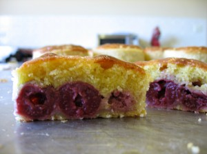 sour cherry tart cross section