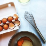 Whisk egg yolks and sugar over double boiler