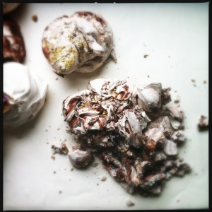 Smashed Chocolate meringues