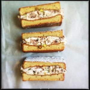 Meringue ice cream sandwich